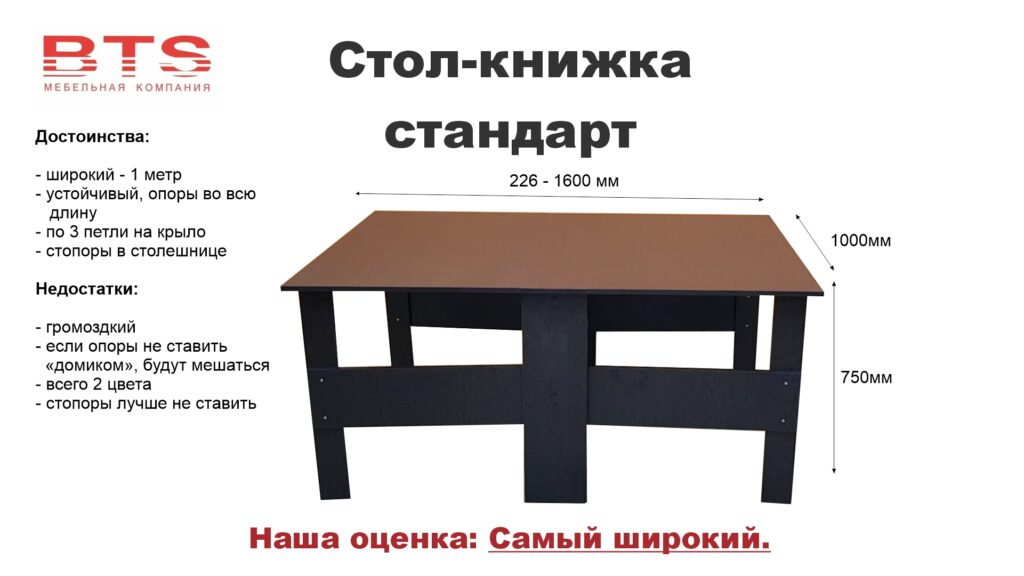 """Стол-книжка """"Стандарт"""""""